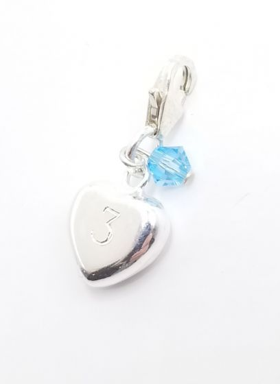 Sterling Silver 10mm Heart Add-On Charm