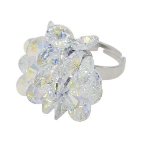 Statement Crystal Cluster Ring