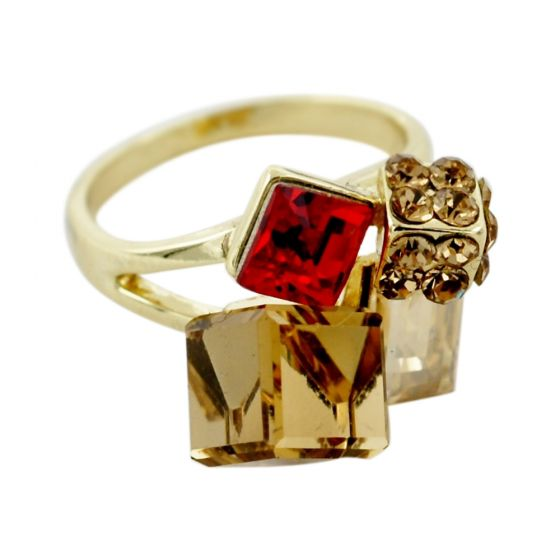 Multi Cube Crystal Ring