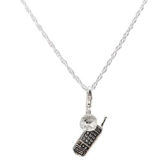 Sterling Silver Intertwined Chain Necklace Only (150 Add-On Charm Options)