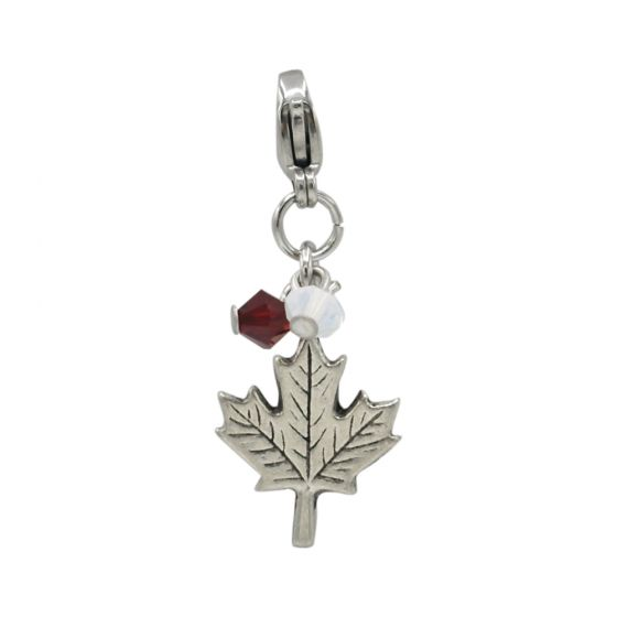 Stainless Steel Maple Leaf Add-On Charm