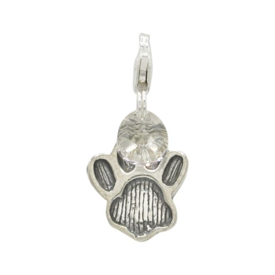Sterling Silver Dog Paw Add-On Charm