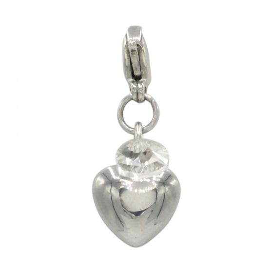 Stainless Steel Heart Add-On Charm