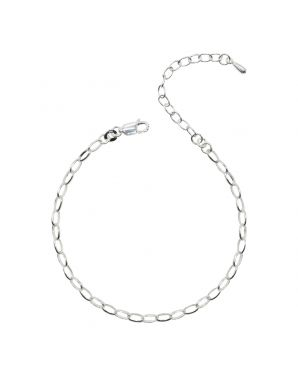 Sterling Silver Oval Link Bracelet Only (150 Add-On Charm Options)