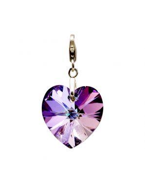 Classic Medium Heart Crystal Add-On Charm