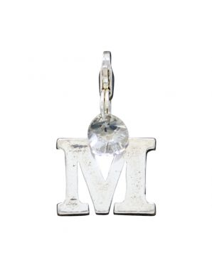 "Sterling Silver Letter ""M"" Add-On Charm"