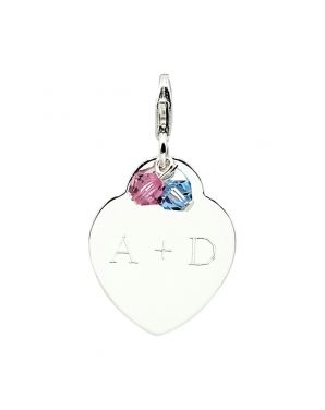 Personalized Flat Heart Add-On Charm