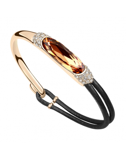 Oval Crystal Stone Bracelet
