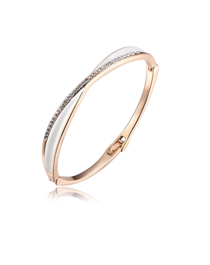 Criss Cross Crystal Bracelet
