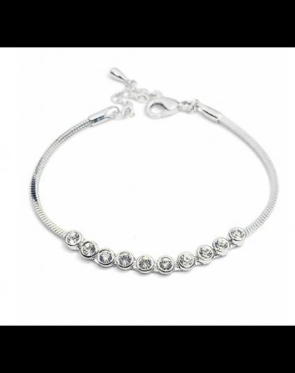 Round Crystal Snakechain Bracelet