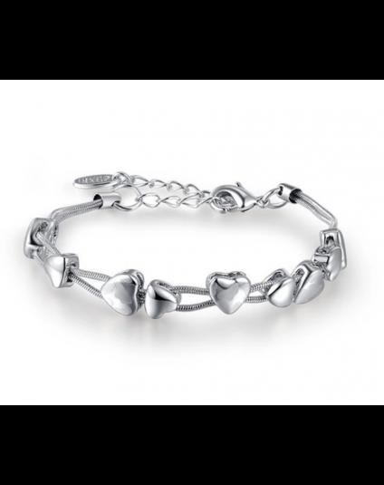 Multi Heart Slider Bracelet