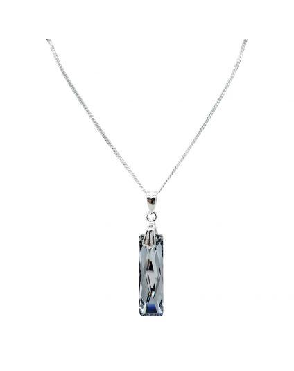 Medium Baguette Crystal Necklace