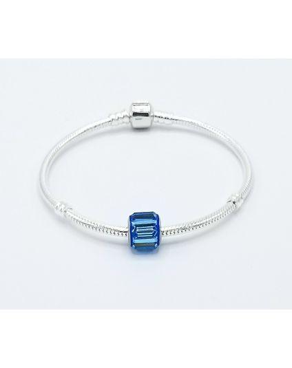 Sterling Silver 3mm Snakechain Bracelet Only (35+ Slide On Bead Options)