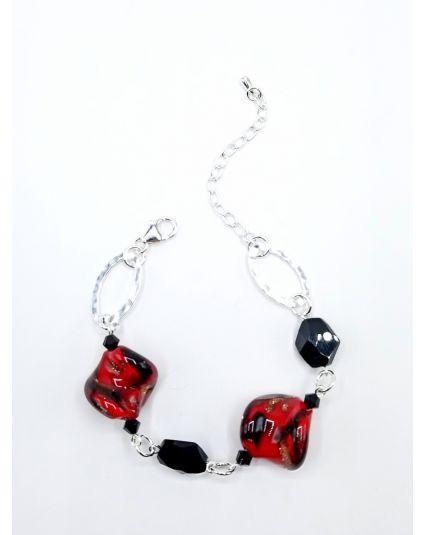 Murano Twist & Crystal Helix Bracelet
