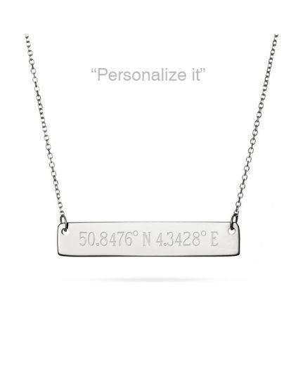 Personalized Horizontal Bar Necklace