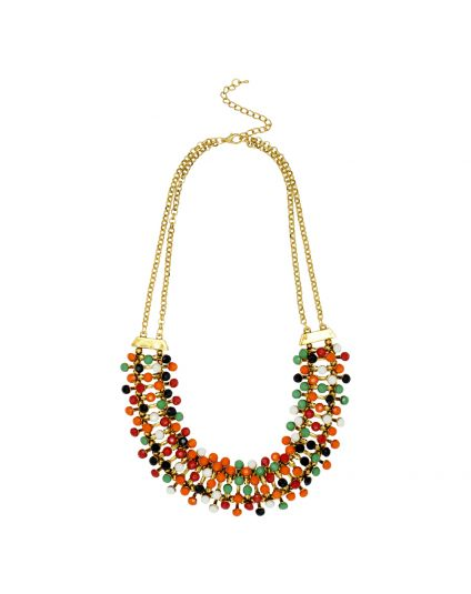 Multi Color Bib Necklace