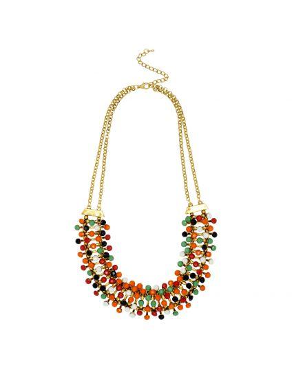 Multi Color Bib Necklace