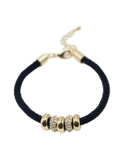 Slider Crystal Bead Bracelet