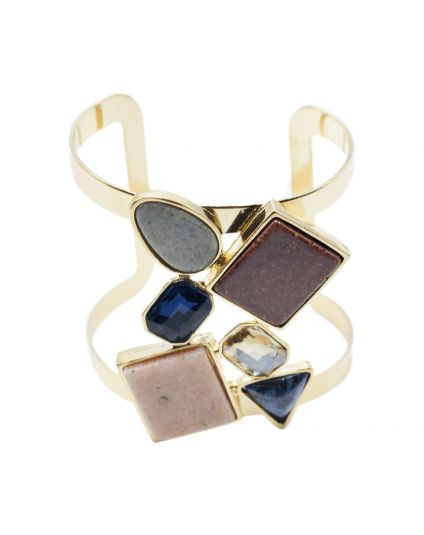 Earth Tone Geometric Bangle