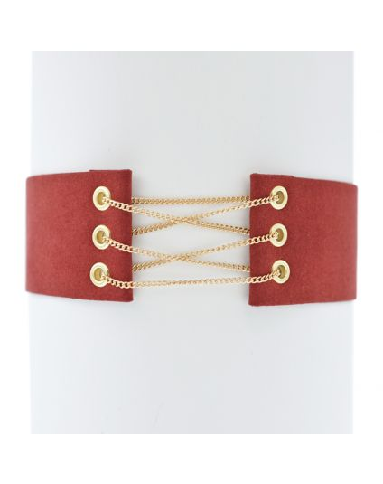 Velvet Chain Connector Choker