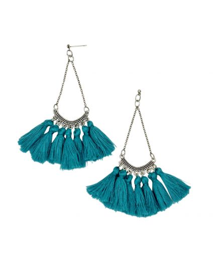 Vintage Turquoise Tassle Earrings