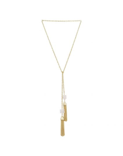 Rose Quartz 3 In 1 tassle Necklace