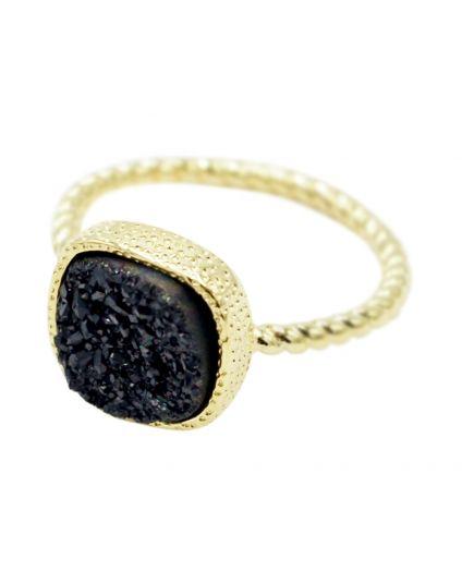 Square Druzy Ring