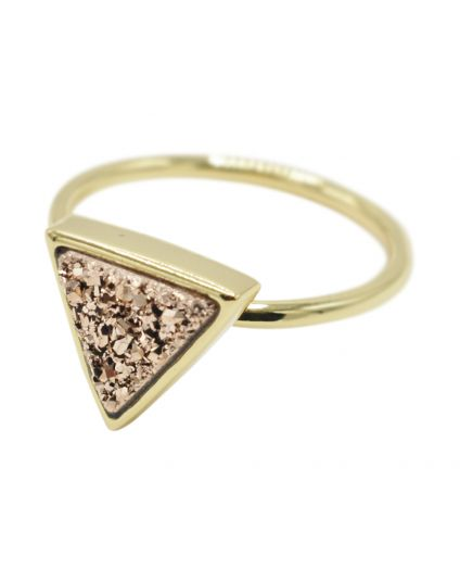 Triangle Druzy Ring