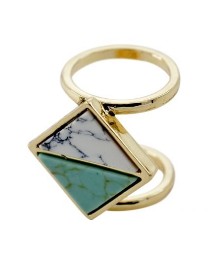 Triangle Natural Stone Ring