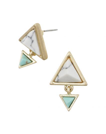 Link To Link Triangle Studs