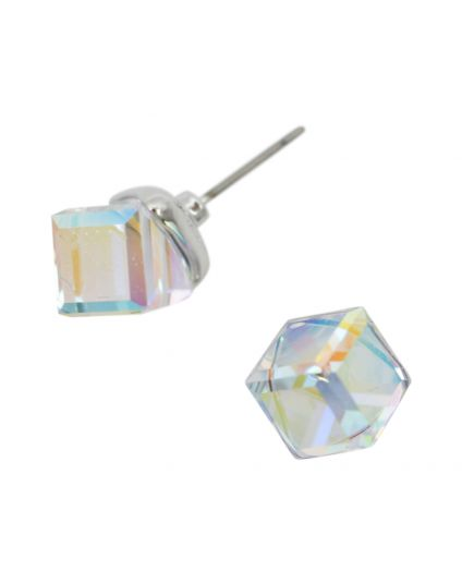Cube Crystal Studs