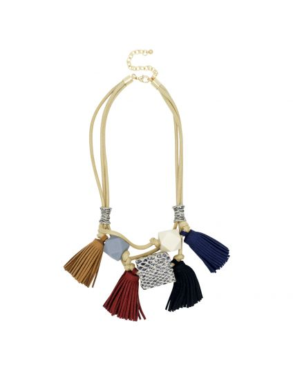 Multi Layer Tassle Necklace