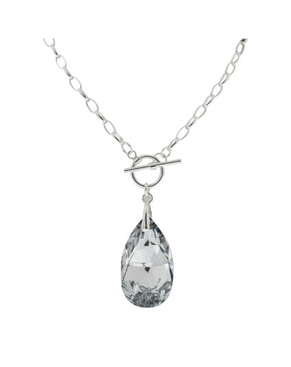 Large Chadelier Crystal Toggle Necklace
