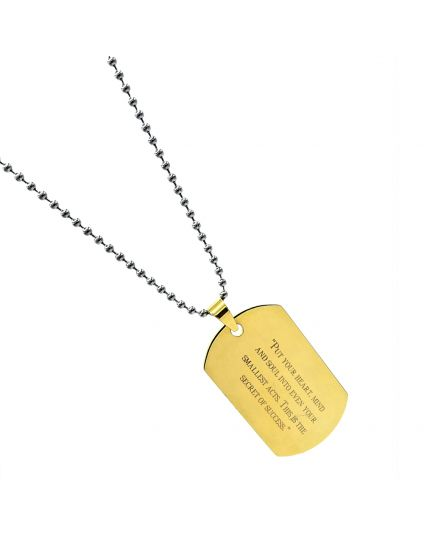 Soldier In U Miltary Tag Necklace