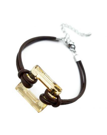 Square Cosmic Ring Crystal Bracelet