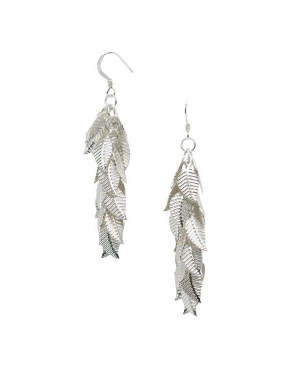 Long Leaf Cluster Earrings