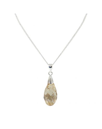 Medium Briolette Crystal Necklace