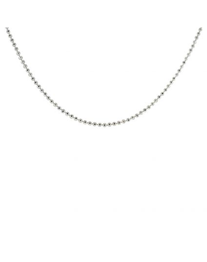 Sterling Silver 1mm Ball Link Necklace (Multiple Lengths Available)