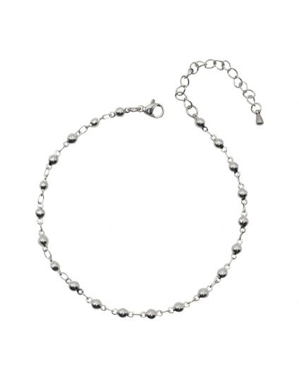 Stainless Steel 4mm Oval Link Anklet