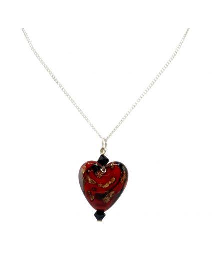 Murano Heart Necklace