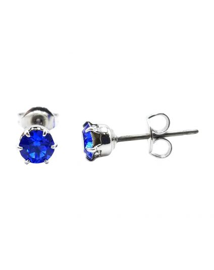 Tiny 3.6mm Crystal Birthstone Studs