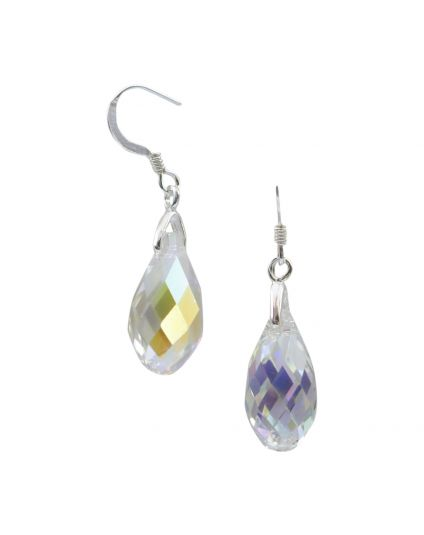 Small Briolette Crystal Earrings