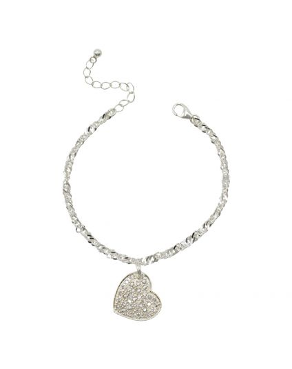 Sterling Silver C.Z Bracelet