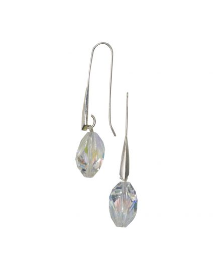 Long Cubist Crystal Earings