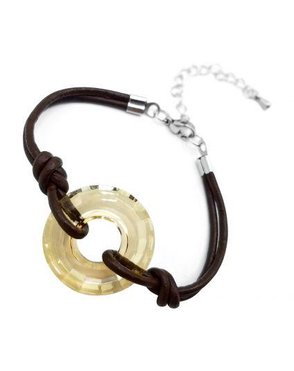 Crystal Disc Bracelet