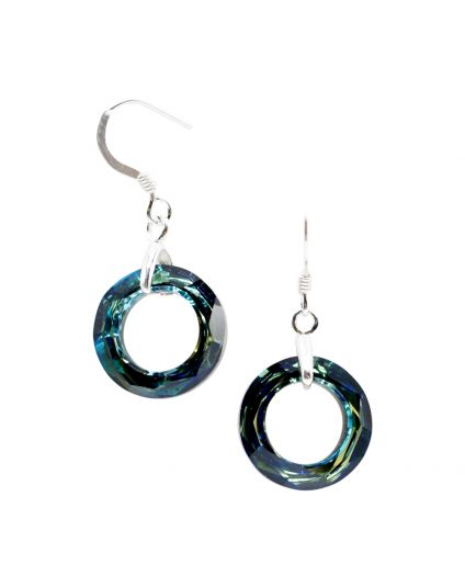Small Cosmic Ring Crystal Earrings