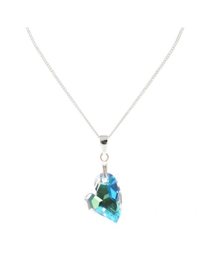 Small Devoted To U Crystal Necklace