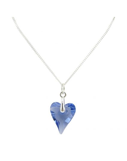 Medium Wild Heart Crystal Necklace