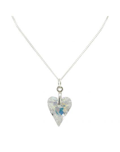Medium Wild Heart Crystal Necklace