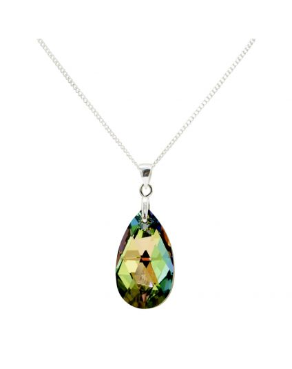 Almond Shaped Crystal Necklace